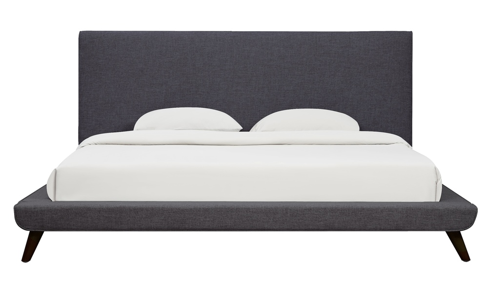 TOV Furniture - Nixon Grey Linen Bed