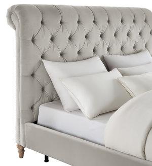 Thumbnail of TOV Furniture - Putnam Grey Velvet Bed