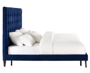 Thumbnail of TOV Furniture - Eden Navy Velvet Bed in Queen Size