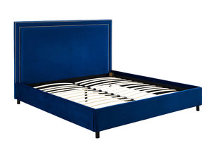 Thumbnail of TOV Furniture - Reed Navy Velvet Bed in King Size