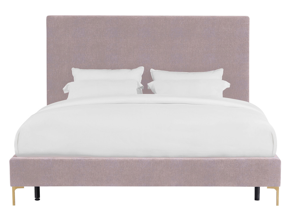 TOV Furniture - Delilah Blush Textured Velvet Bed in Queen