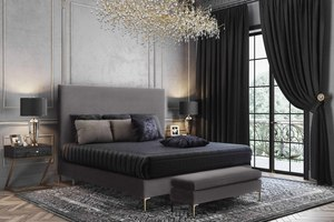 Thumbnail of TOV Furniture - Delilah Grey Velvet Bed