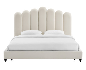 Thumbnail of TOV Furniture - Celine Cream Velvet Bed