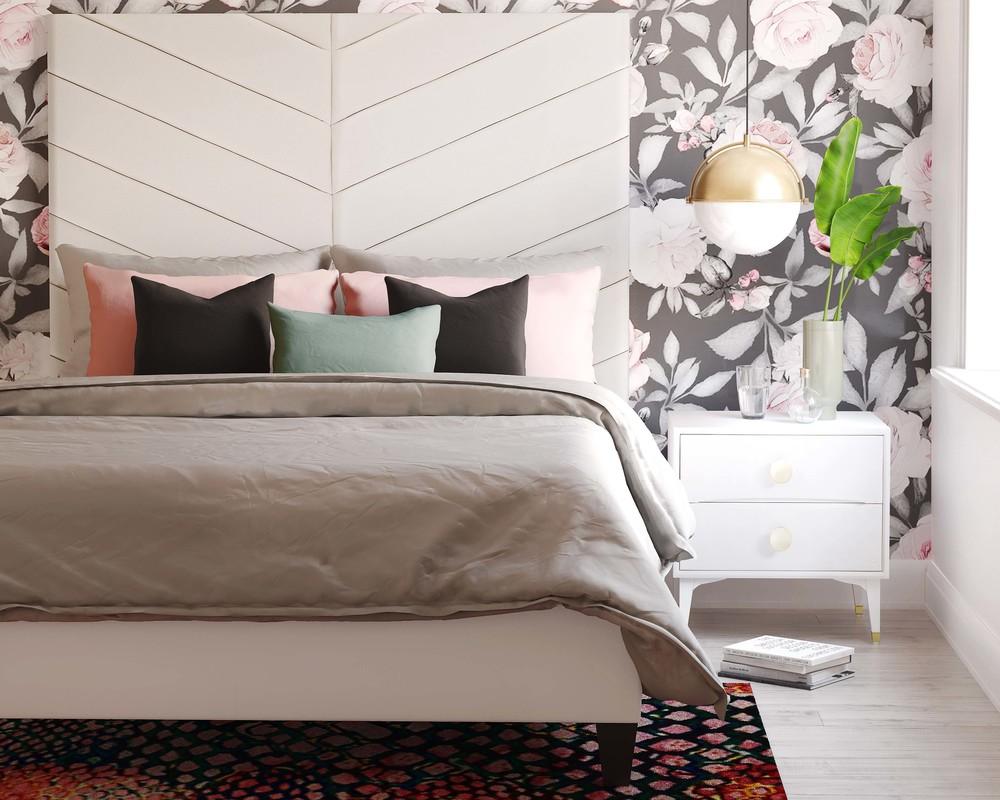 TOV Furniture - Javan Cream Velvet Bed
