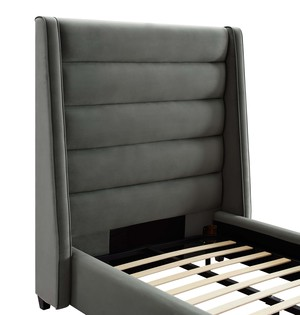 Thumbnail of TOV Furniture - Koah Grey Velvet Bed