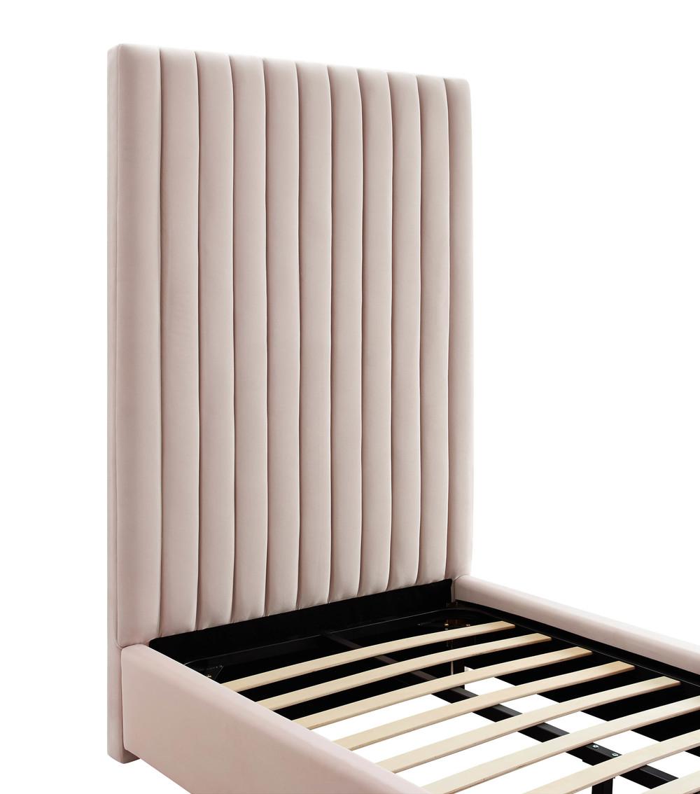 TOV Furniture - Arabelle Blush Velvet Bed