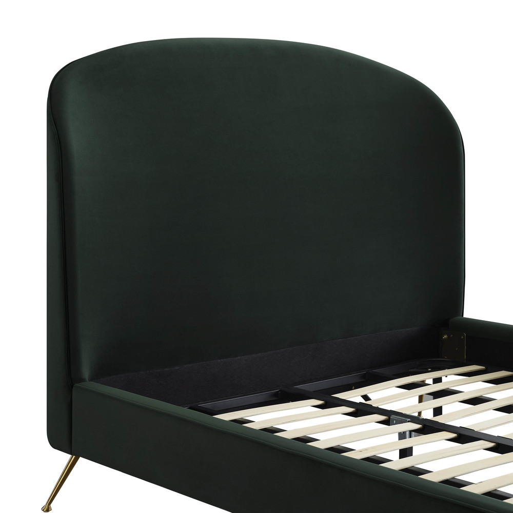 TOV Furniture - Vivi Forest Green Velvet Bed