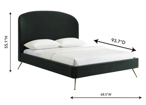 Thumbnail of TOV Furniture - Vivi Forest Green Velvet Bed