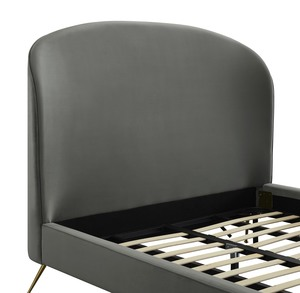 Thumbnail of TOV Furniture - Vivi Grey Velvet Bed