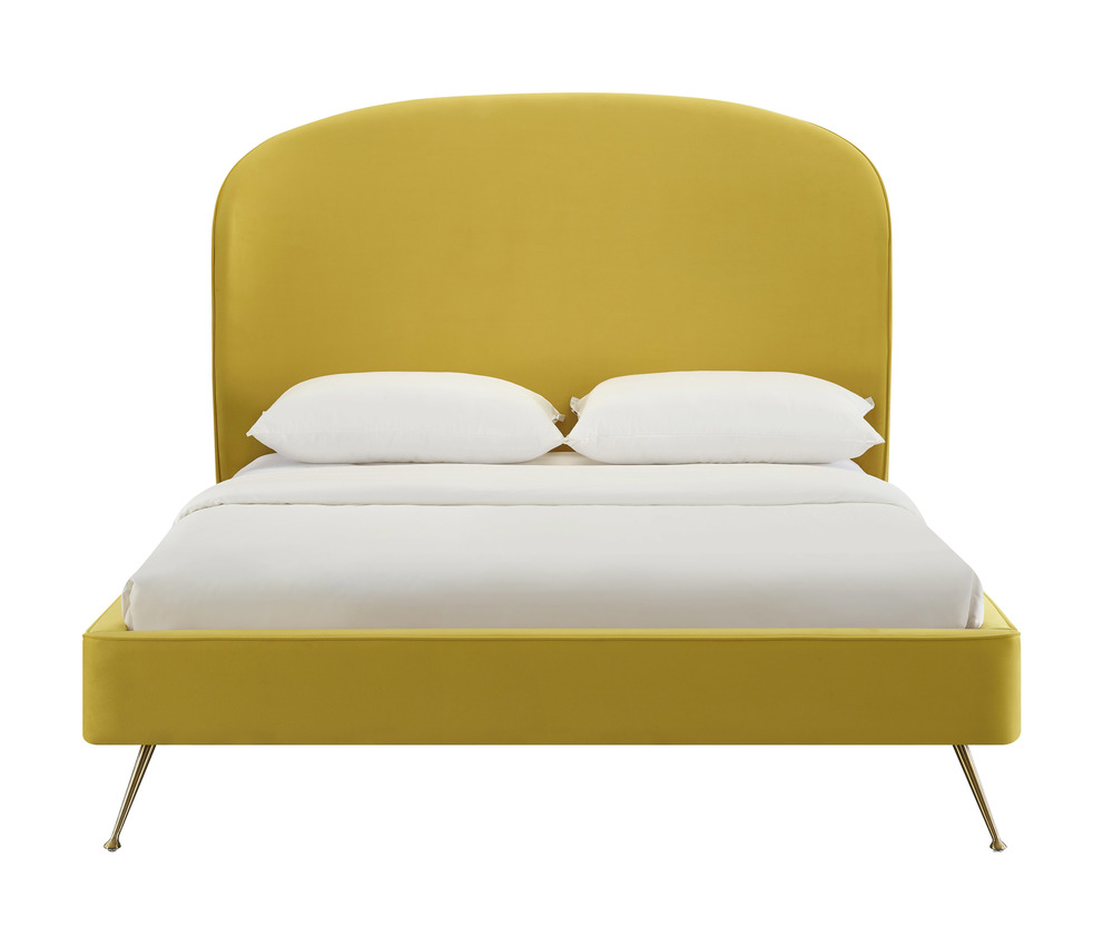 TOV Furniture - Vivi Burnt Gold Velvet Bed