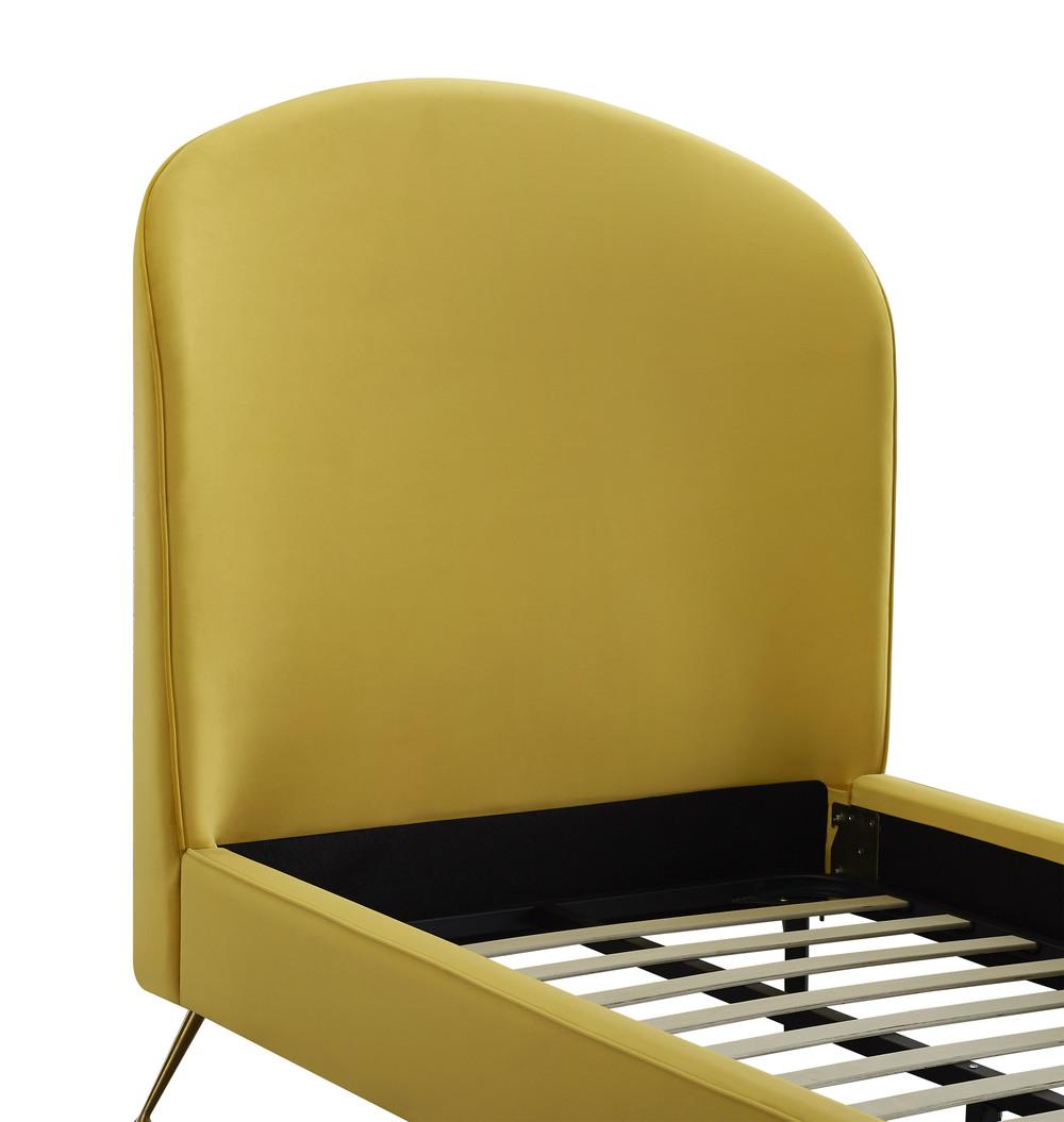 TOV Furniture - Vivi Burnt Gold Velvet Bed