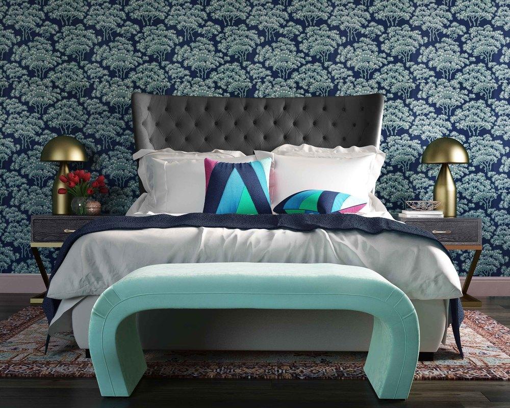 TOV Furniture - Sassy Grey Velvet King Bed