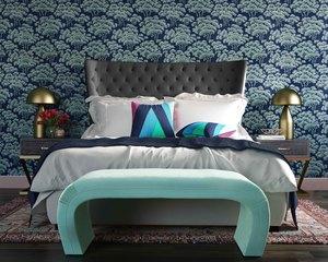 Thumbnail of TOV Furniture - Sassy Grey Velvet King Bed