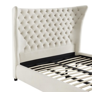 Thumbnail of TOV Furniture - Sassy Cream Velvet King Bed