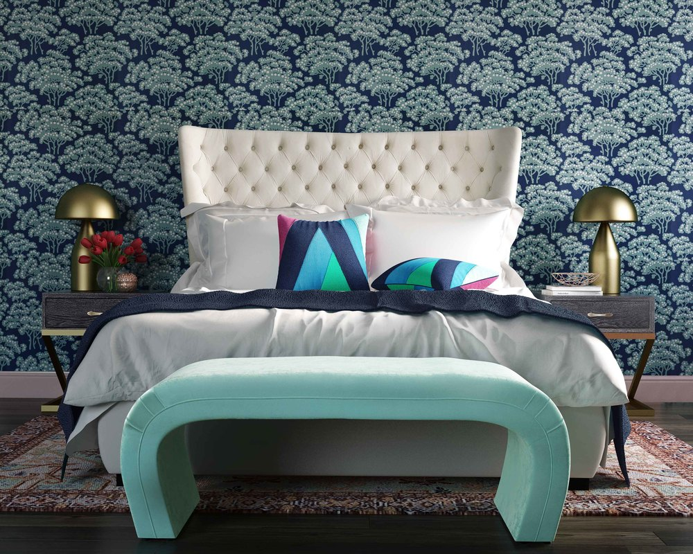 TOV Furniture - Sassy Cream Velvet King Bed