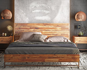 Thumbnail of TOV Furniture - Bushwick Wooden King Bed