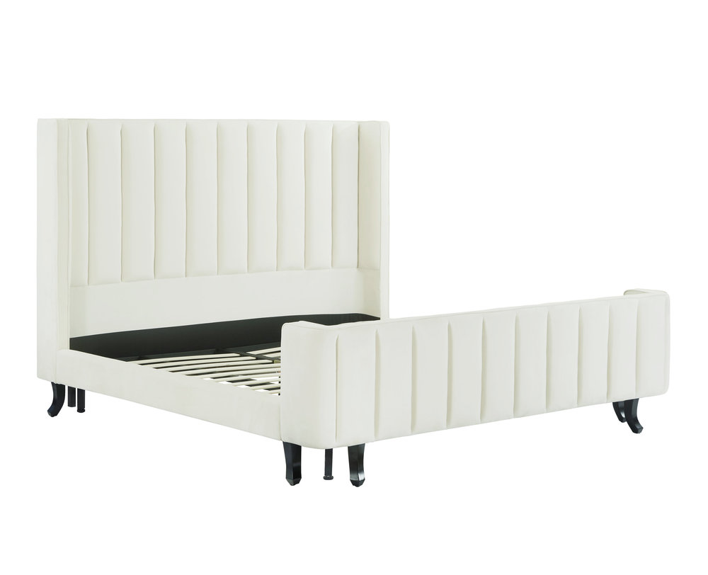 TOV Furniture - Waverly Cream Velvet Bed
