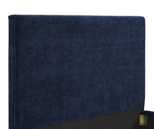 Thumbnail of TOV Furniture - Delilah Navy Textured Velvet Bed