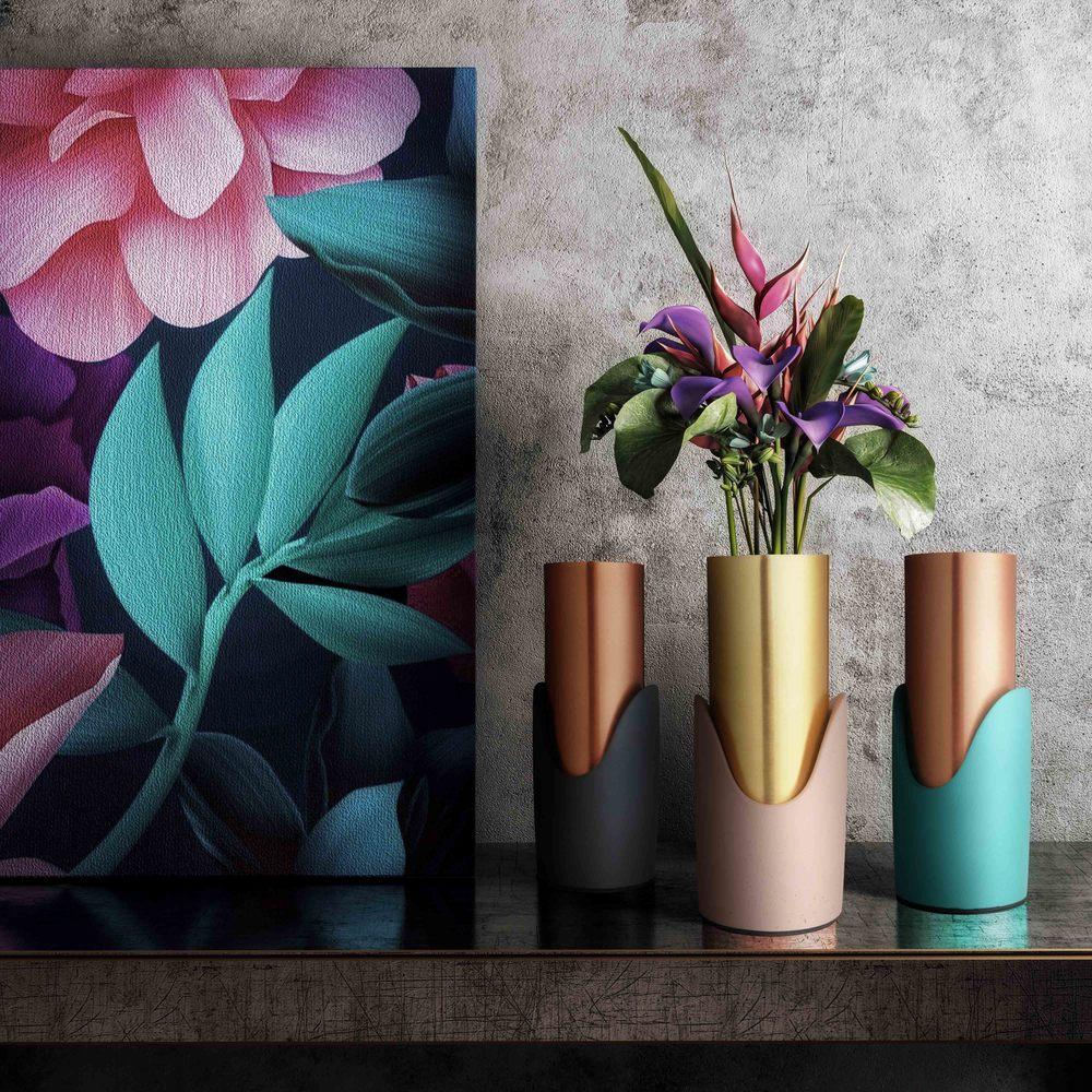 TOV Furniture - Blue Concrete Vase