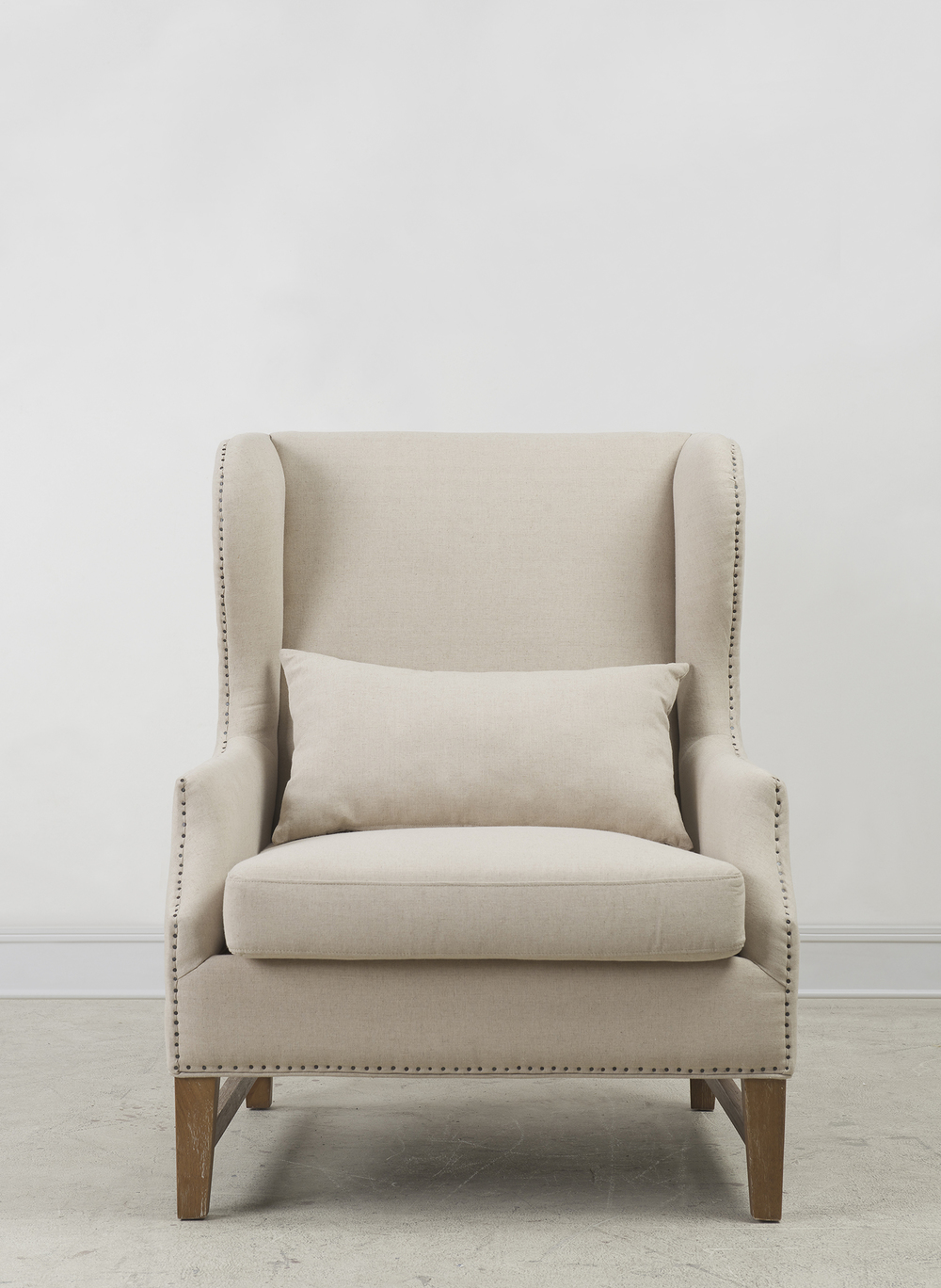 TOV Furniture - Devon Beige Linen Wing Chair