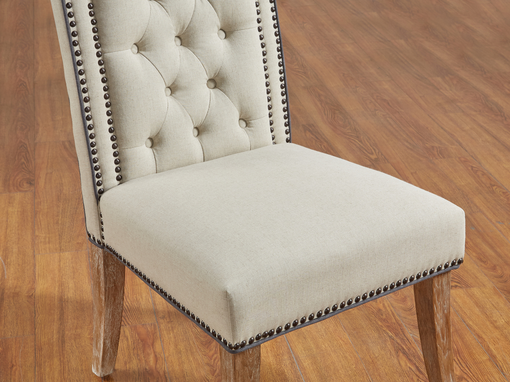 TOV Furniture - Garrett Beige Linen Dining Chair