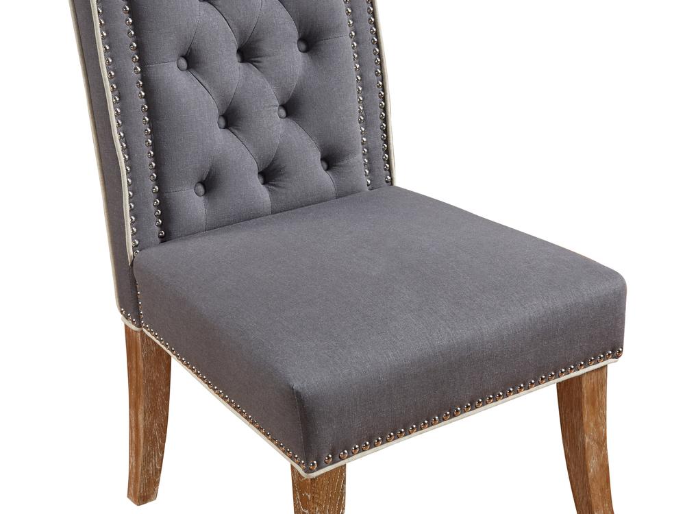 TOV Furniture - Garrett Grey Linen Dining Chair