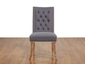 Thumbnail of TOV Furniture - Garrett Grey Linen Dining Chair