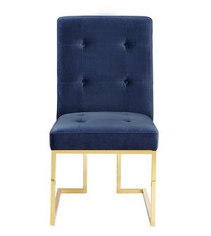 Thumbnail of TOV Furniture - Akiko Navy Velvet Chair