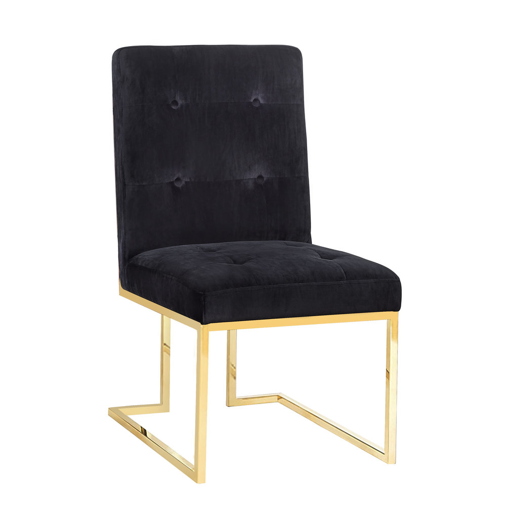 TOV Furniture - Akiko Black Velvet Chair