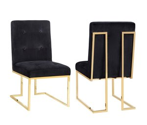Thumbnail of TOV Furniture - Akiko Black Velvet Chair