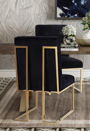 Thumbnail of TOV Furniture - Akiko Black Velvet Chair