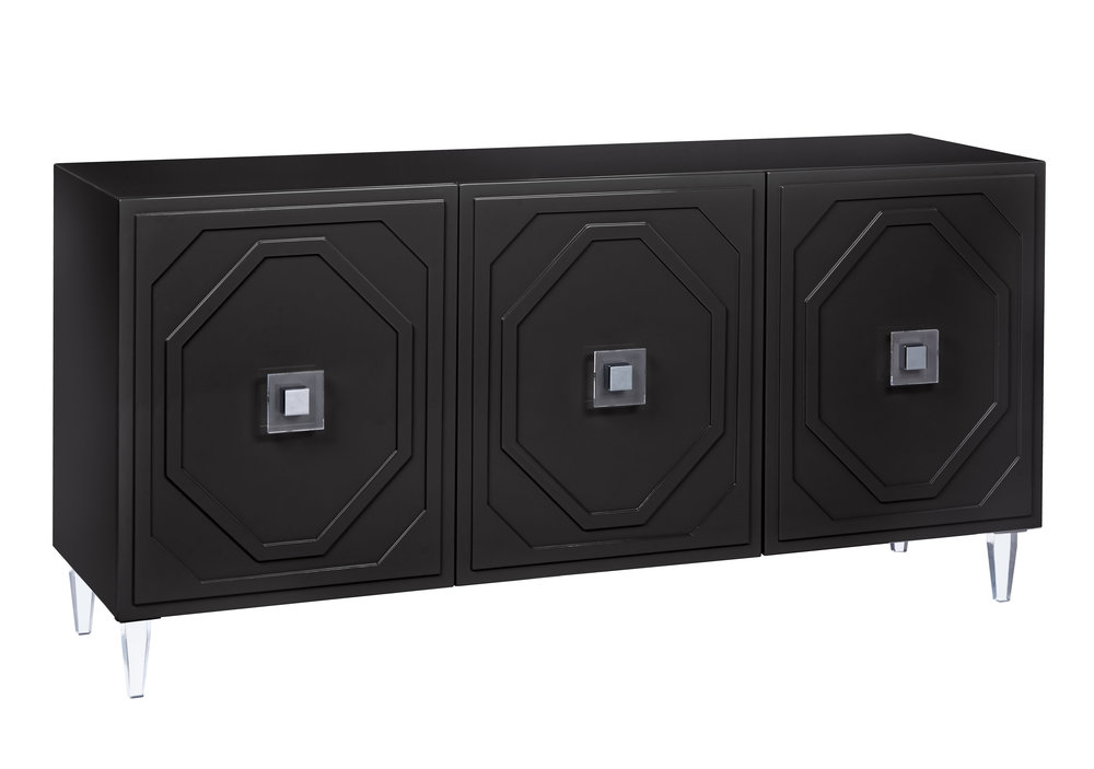 TOV Furniture - Andros Black Lacquer Buffet