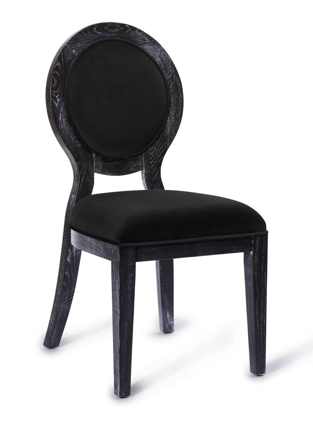 TOV Furniture - Cerused Oak Black Chair