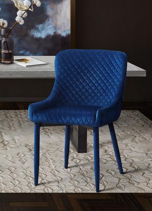 Thumbnail of TOV Furniture - Draco Navy Velvet Chair