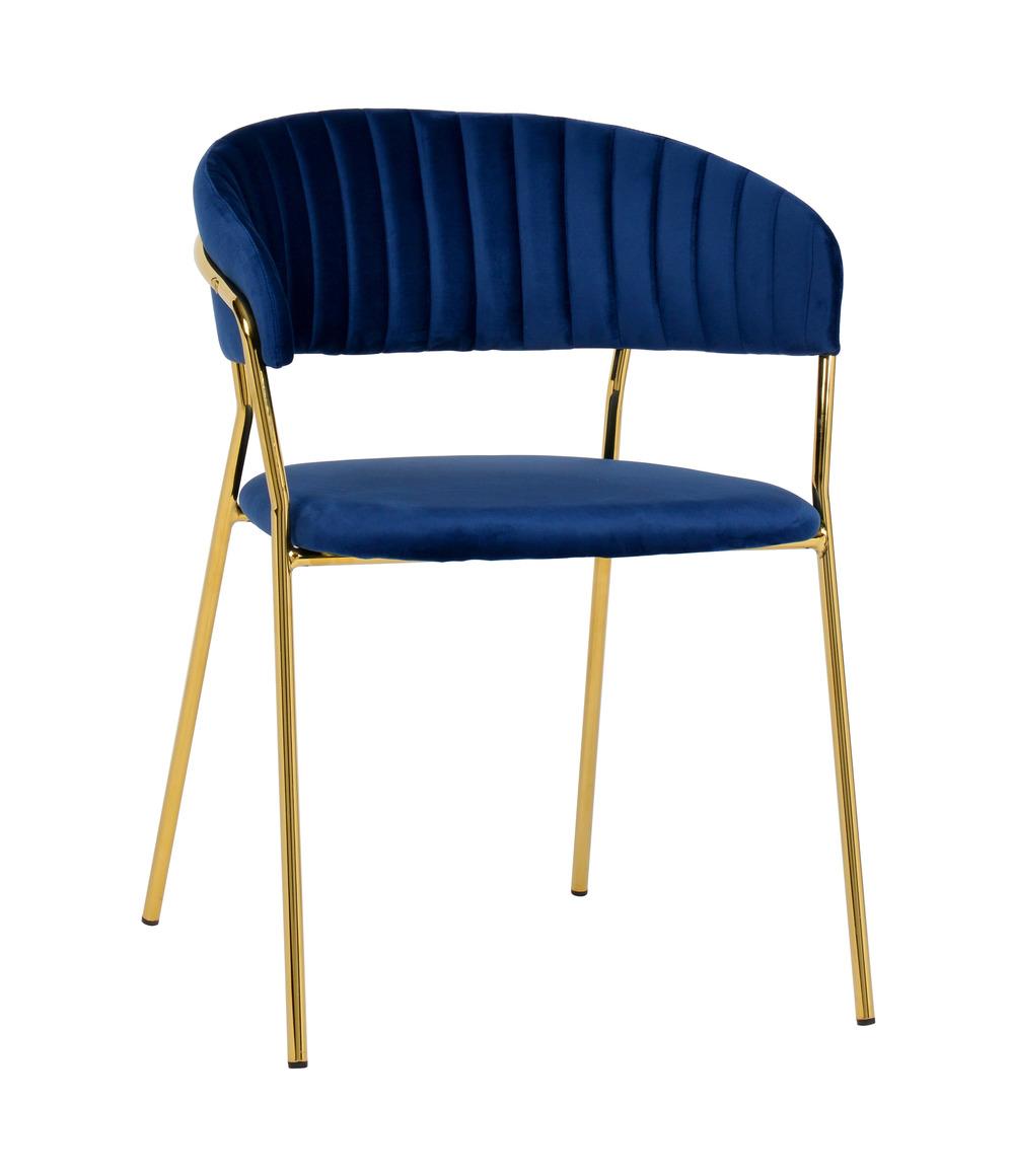 TOV Furniture - Padma Navy Velvet Chair