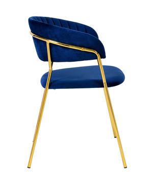 Thumbnail of TOV Furniture - Padma Navy Velvet Chair