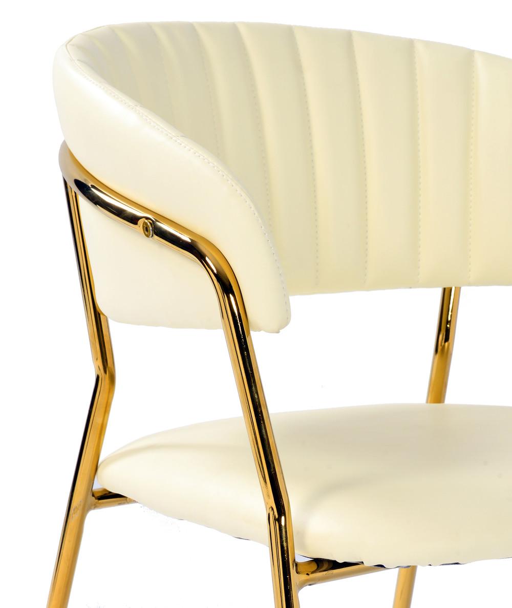 TOV Furniture - Padma Cream Vegan Leather Chair