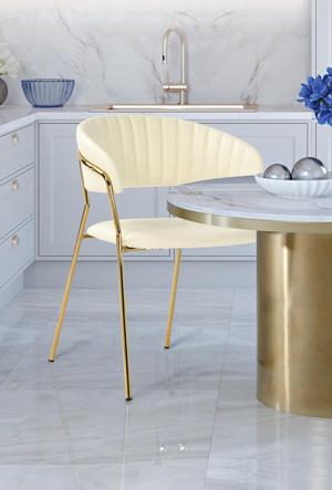 Thumbnail of TOV Furniture - Padma Cream Vegan Leather Chair