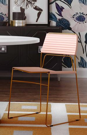 Thumbnail of TOV Furniture - Domani Blush Vegan Leather Chair