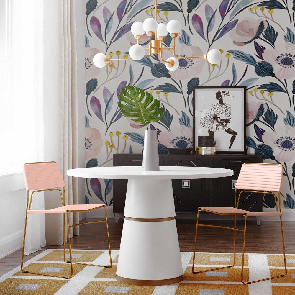 TOV Furniture - Domani Blush Vegan Leather Chair