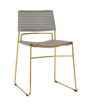 Thumbnail of TOV Furniture - Domani Grey Vegan Leather Chair