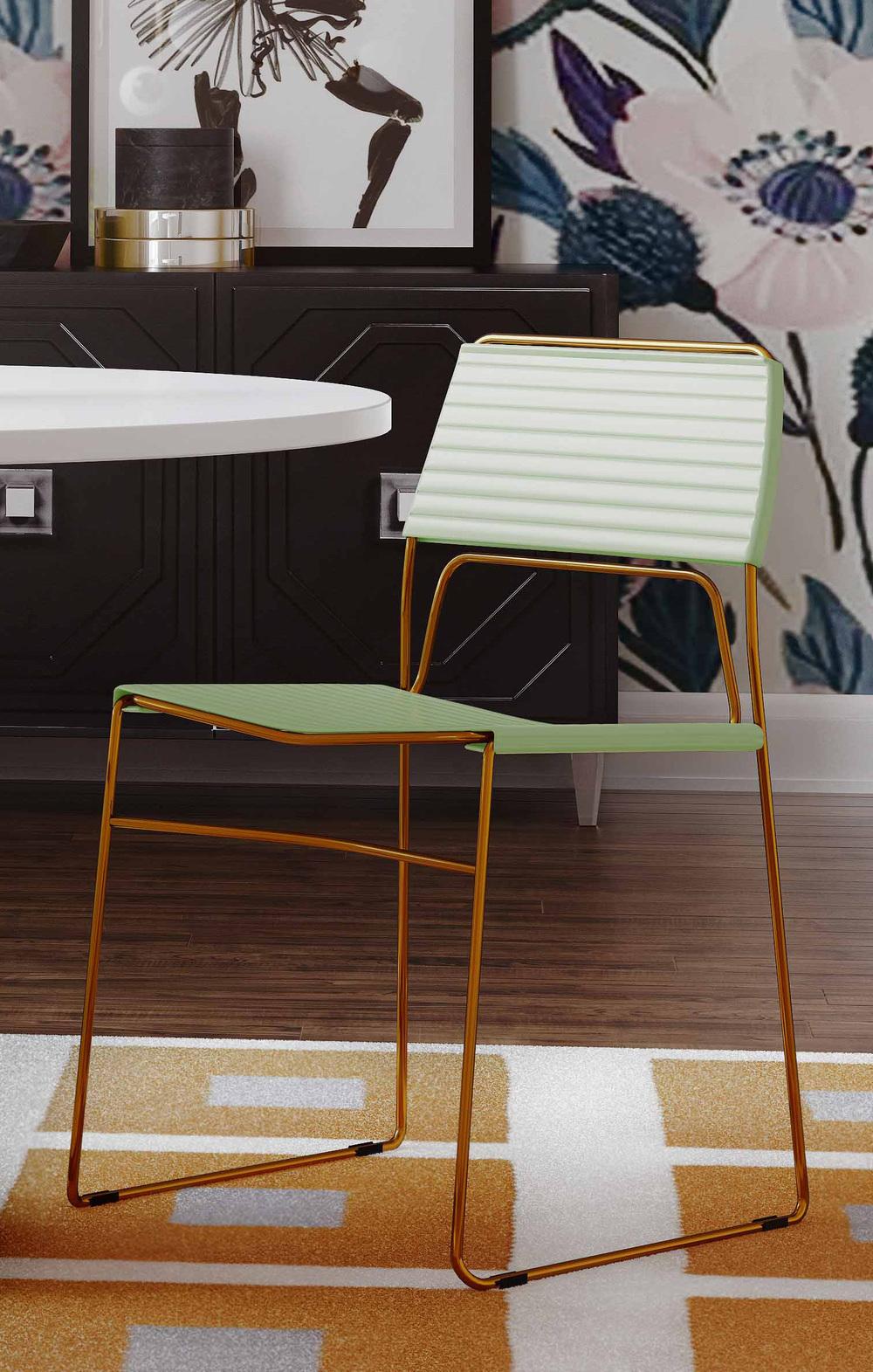 TOV Furniture - Domani Mint Vegan Leather Chair
