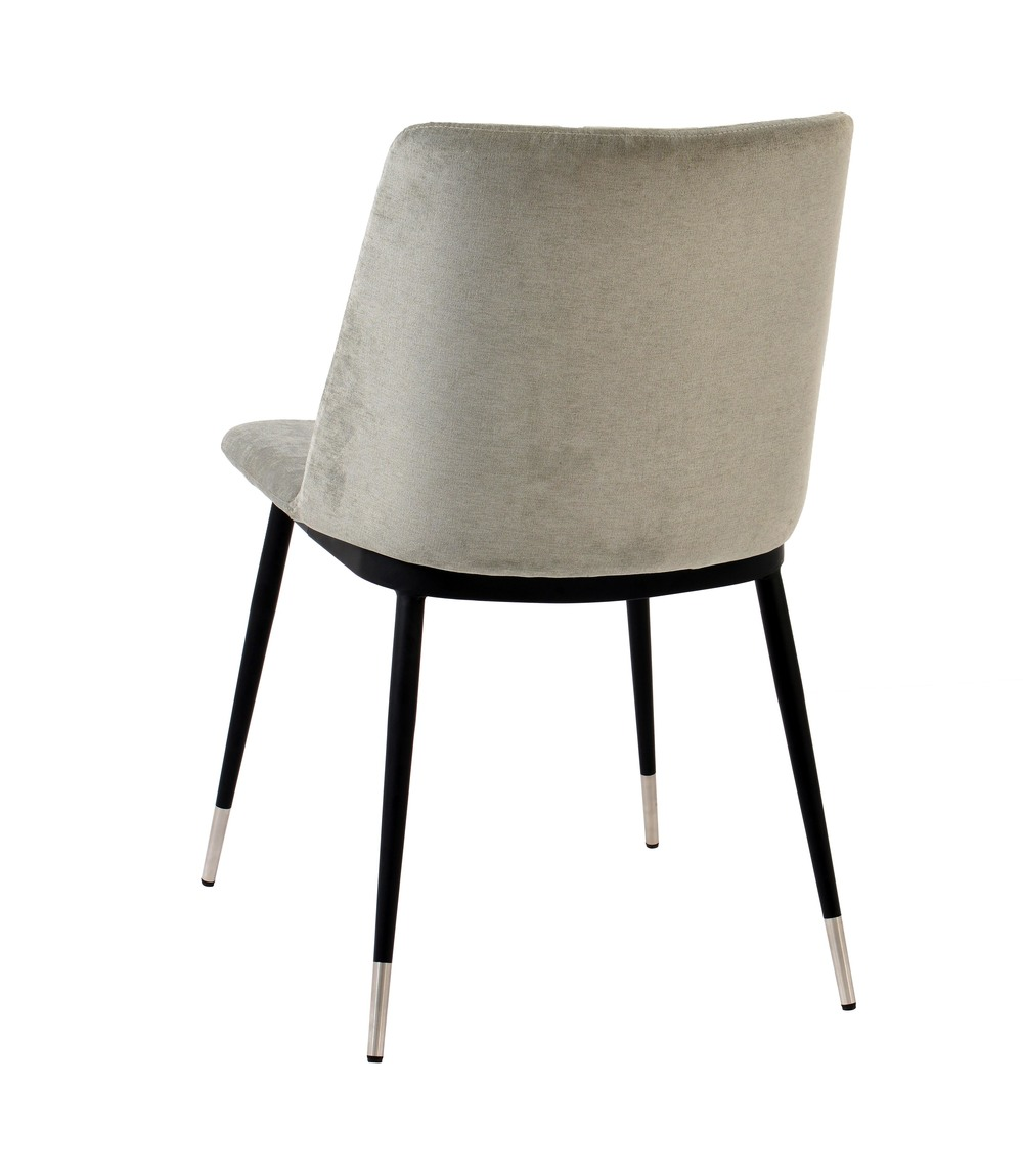 TOV Furniture - Evora Grey Velvet Chair