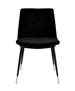 Thumbnail of TOV Furniture - Evora Black Velvet Chair