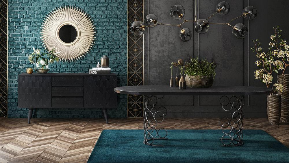 TOV Furniture - Valentina Black Buffet