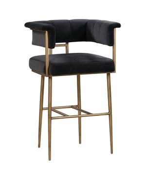 Thumbnail of TOV Furniture - Astrid Grey Velvet Stool