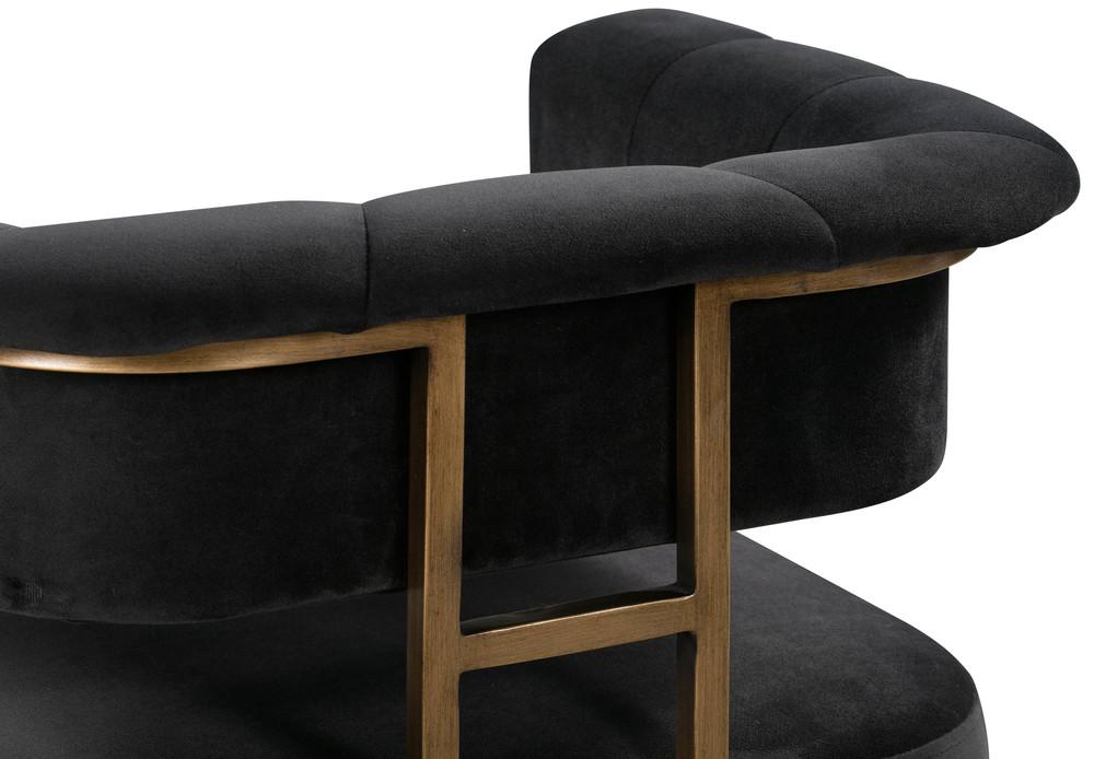 TOV Furniture - Astrid Grey Velvet Stool