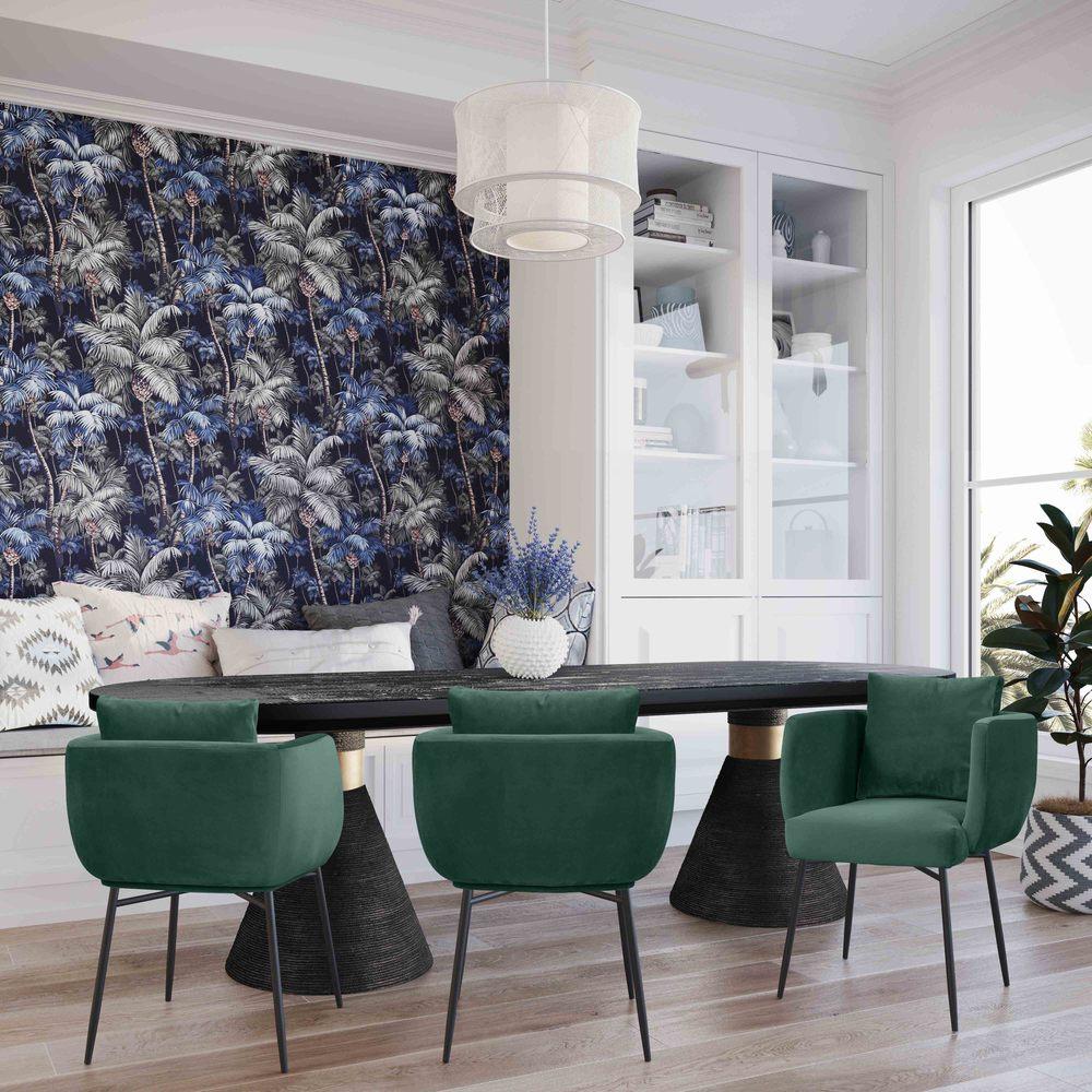 TOV Furniture - Alto Forest Green Velvet Chair