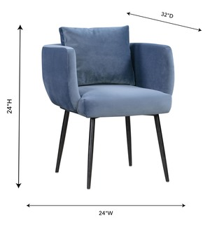 Thumbnail of TOV Furniture - Alto Cascadia Blue Velvet Chair