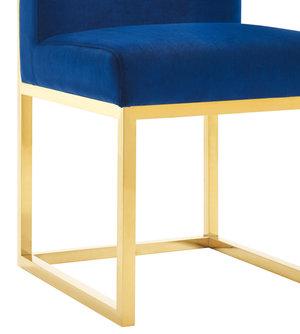 Thumbnail of TOV Furniture - Haute Navy Velvet Chair